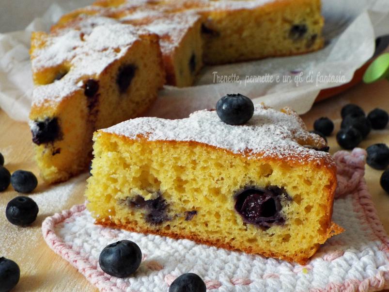 Torta margherita con mirtilli