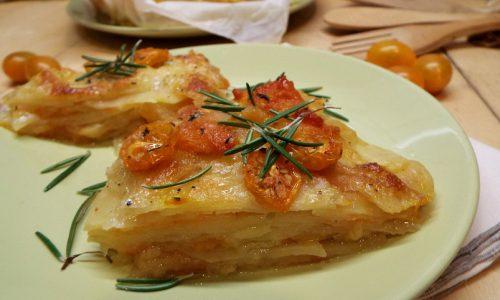 Millefoglie di patate e zucca