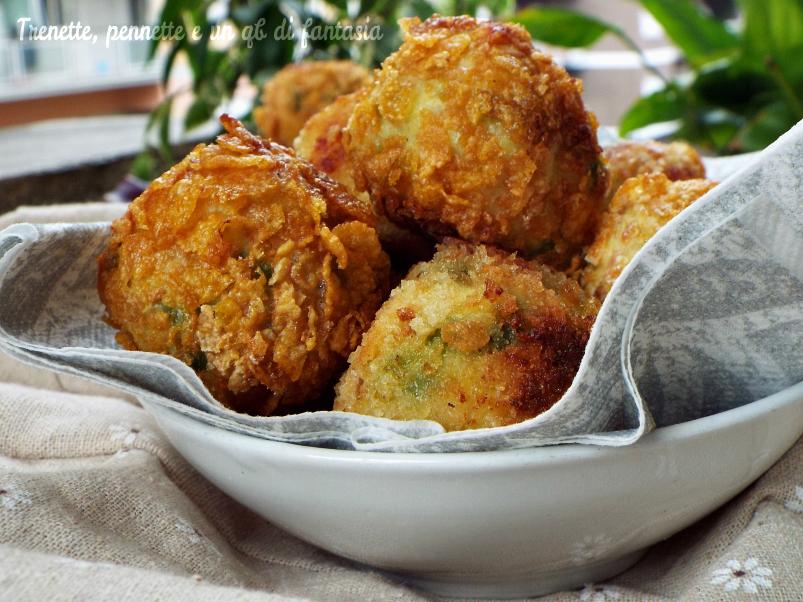 Polpette croccanti di tacchino, patate e piselli…al forno