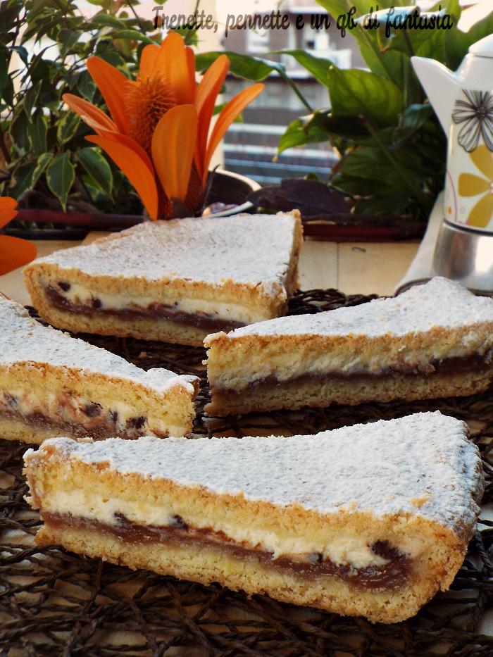 Crostata con crema di marroni e ricotta ricetta dolce