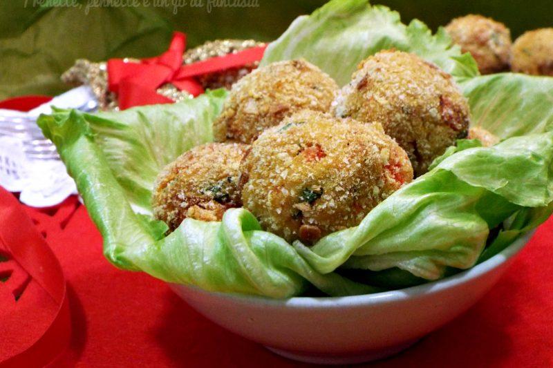Polpette morbide peperoni e patate…cotte al forno