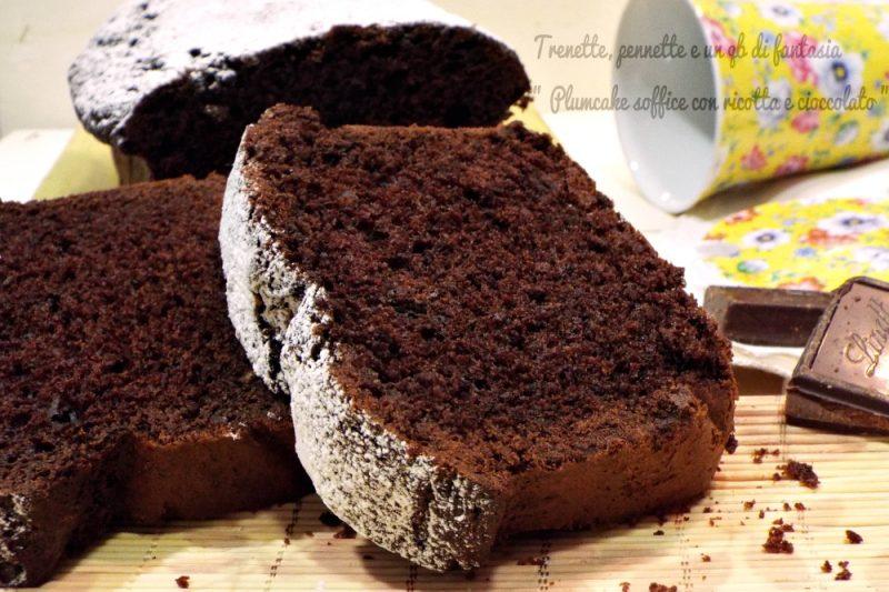 Plumcake soffice con ricotta e cioccolato