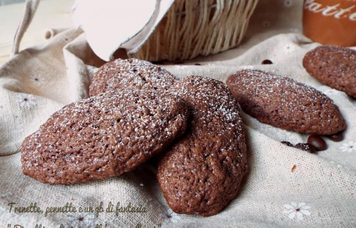Biscotti ovali cioccocaffé…con albumi