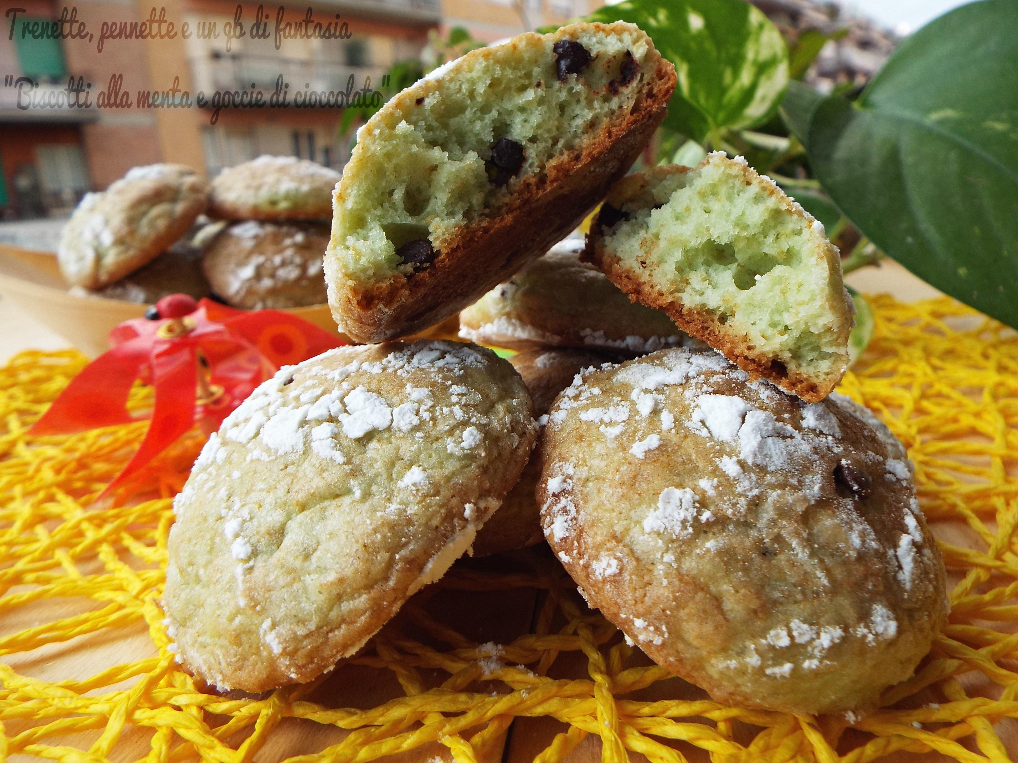 Eccezionale Biscotti alla menta e gocce di cioccolato | KH05