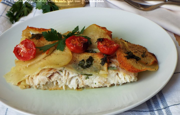 Filetti di Persico con crosta di patate