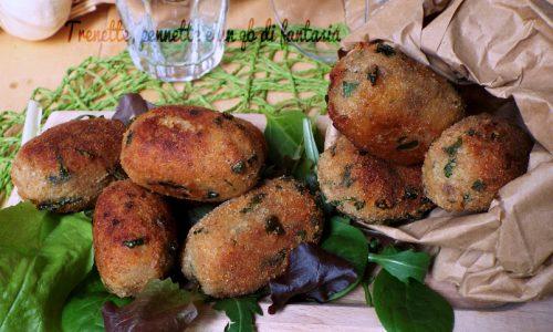 Polpette di pane e carciofi alla romana