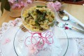 Farfalle con asparagi e pancetta al cacio e pepe