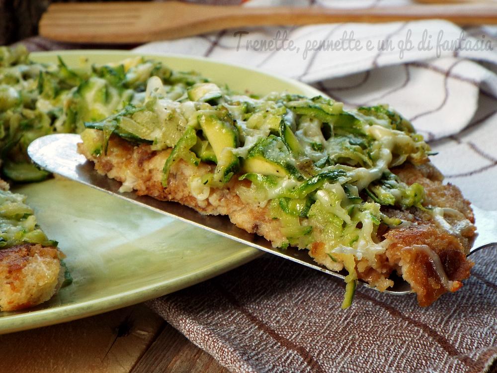Pizza Di Pane Cotta In Padella Con Zucchine