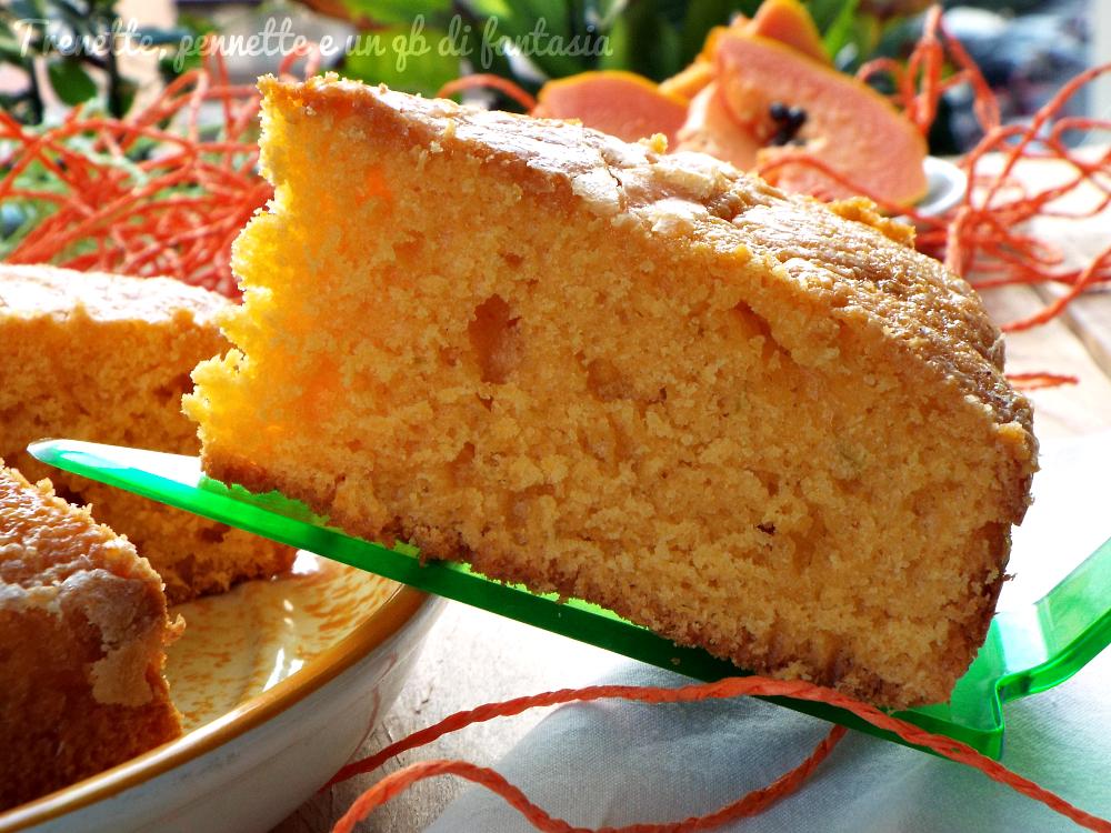 Torta frullata alla papaya e lime