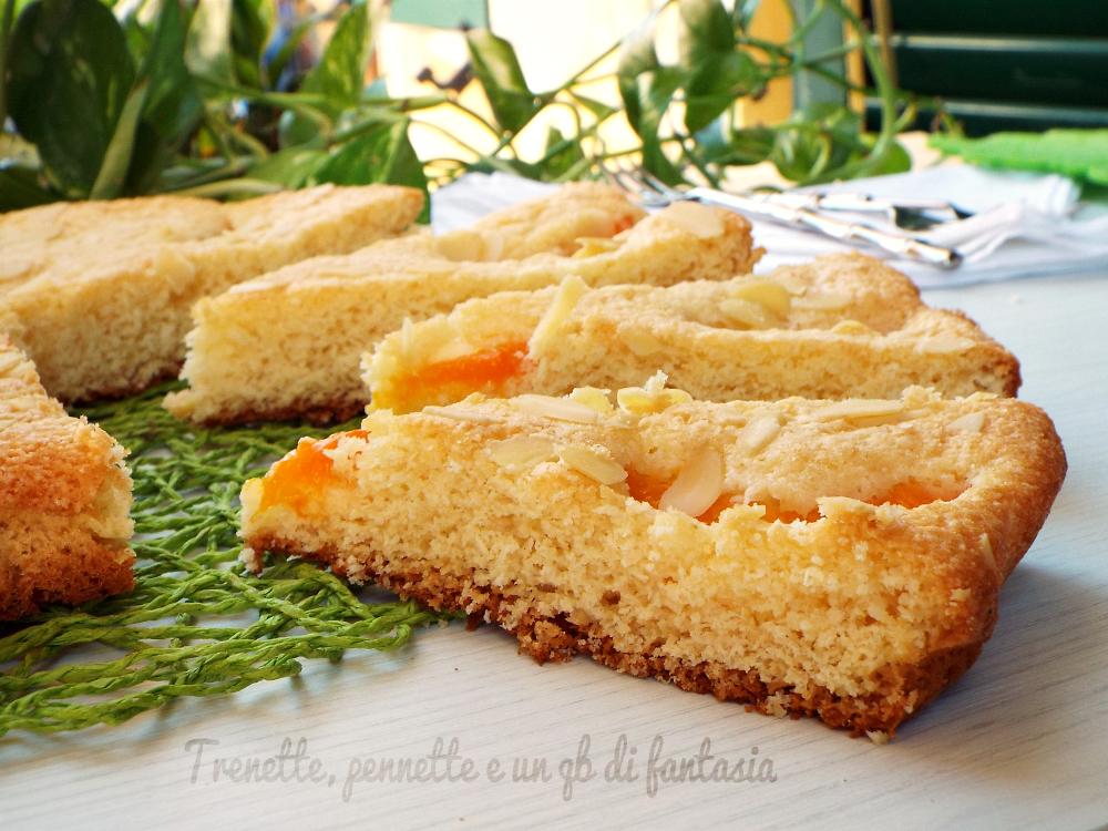 Crostata morbida albicocche e cocco