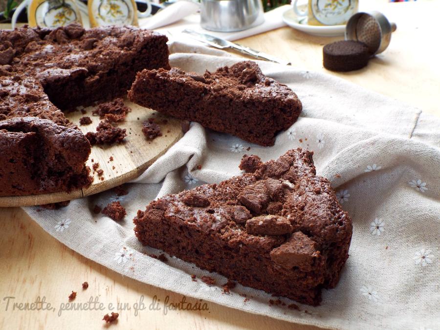 Torta brownie al cioccolato