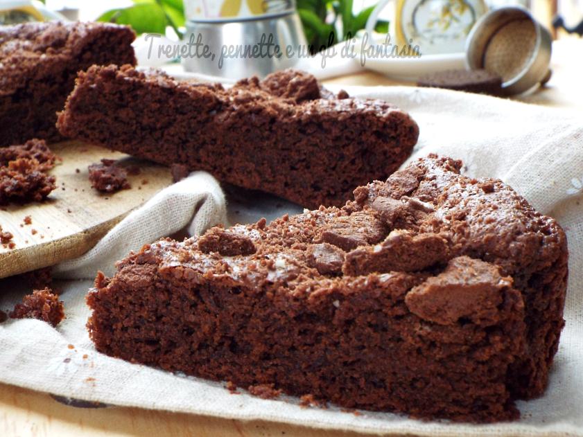 Torta brownie  fondi di caffè