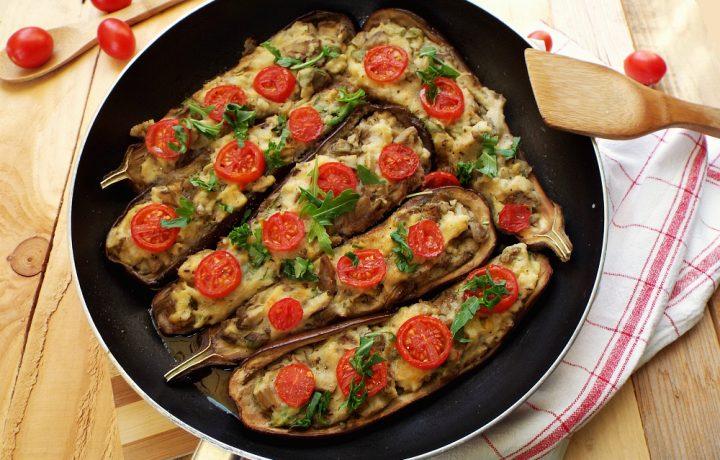 Barchette di melanzane e patate..in padella