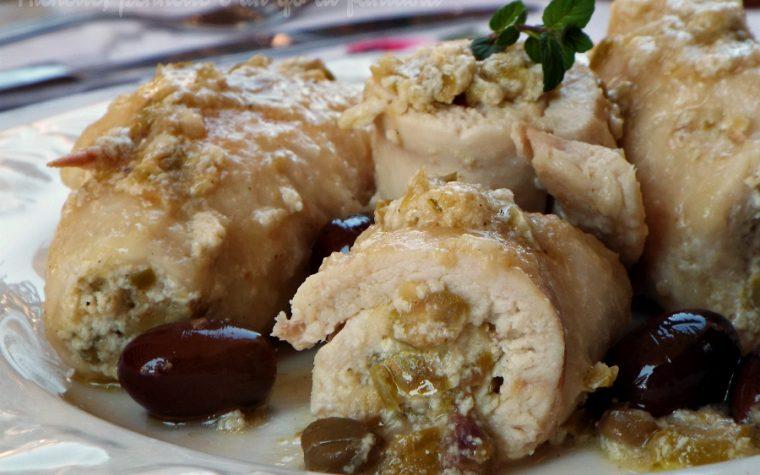 Involtini di pollo con crema di olive