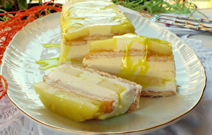 Semifreddo ananas mascarpone e limocello