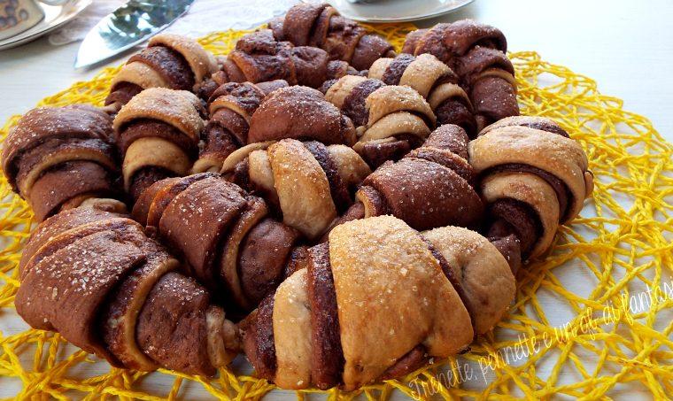 Crostata di Cornetti brioche con Nutella|ricetta dolce