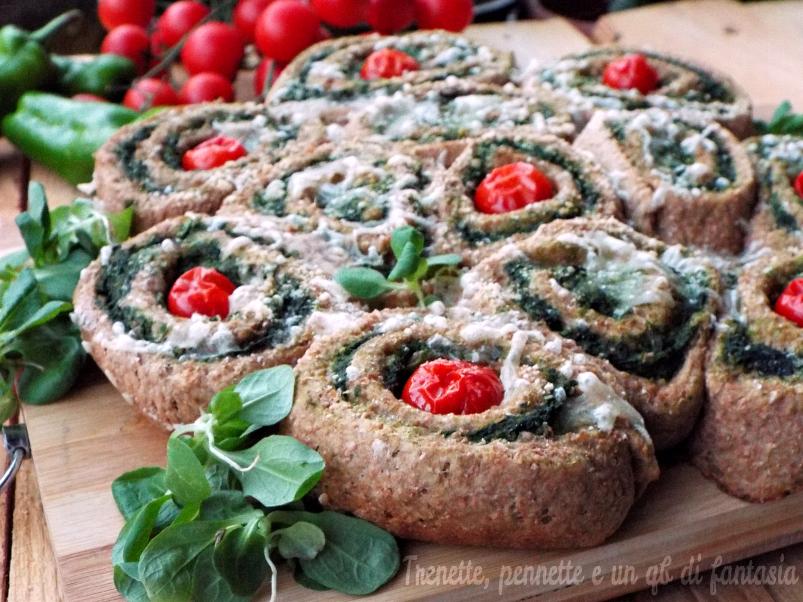 Girelle integrali con ricotta cremosa e spinacio|ricetta