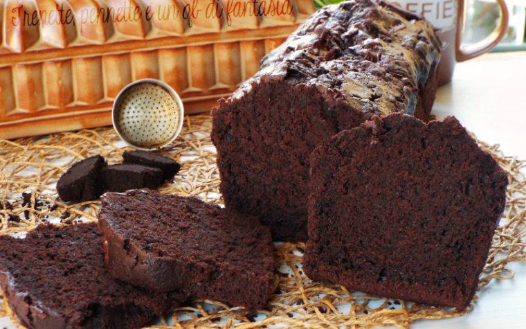 Plumcake all'acqua con cioccolato e fondi di caffe