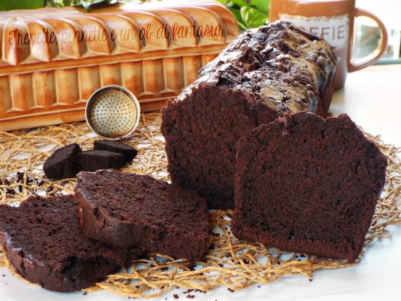 plumcake all'acqua cioccolato e fondi di caffè 3