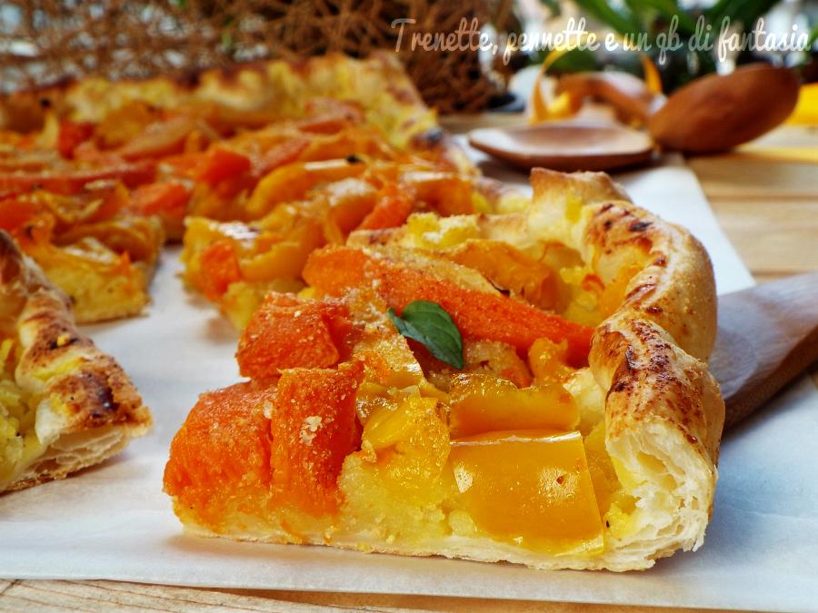 Sfogliata rustica patate zucca e peperoni ricetta salata