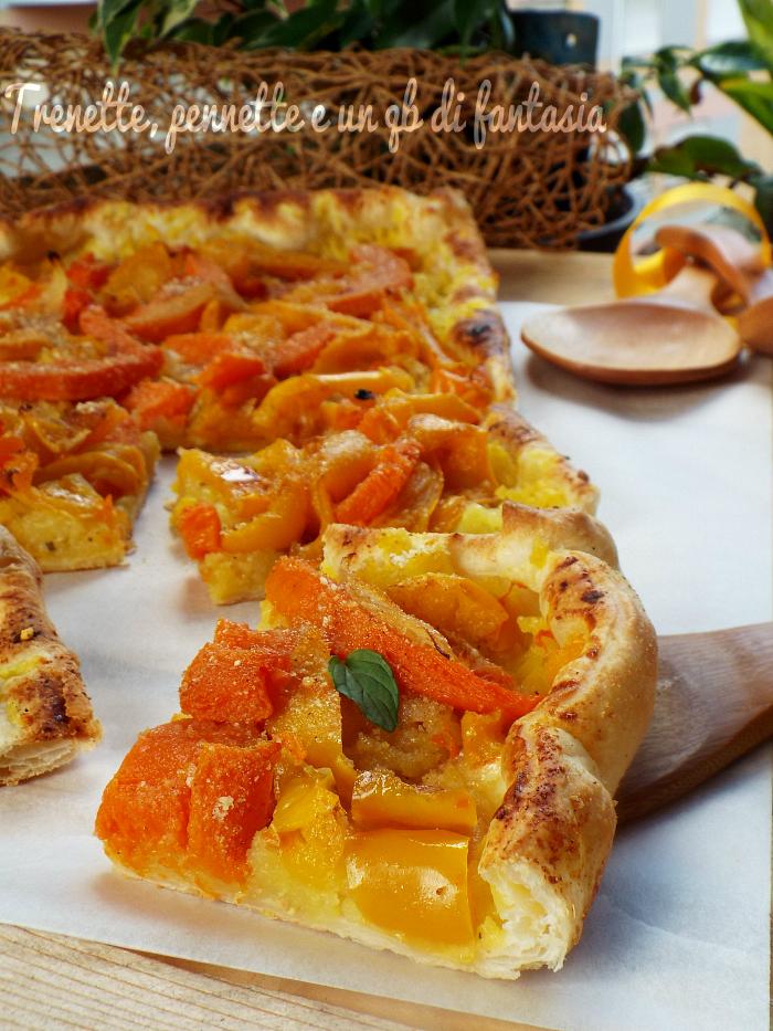 Sfogliata rustica patate zucca e peperoni
