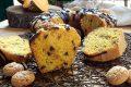 Ciambella golosa zucca amaretti e gocce di cioccolato