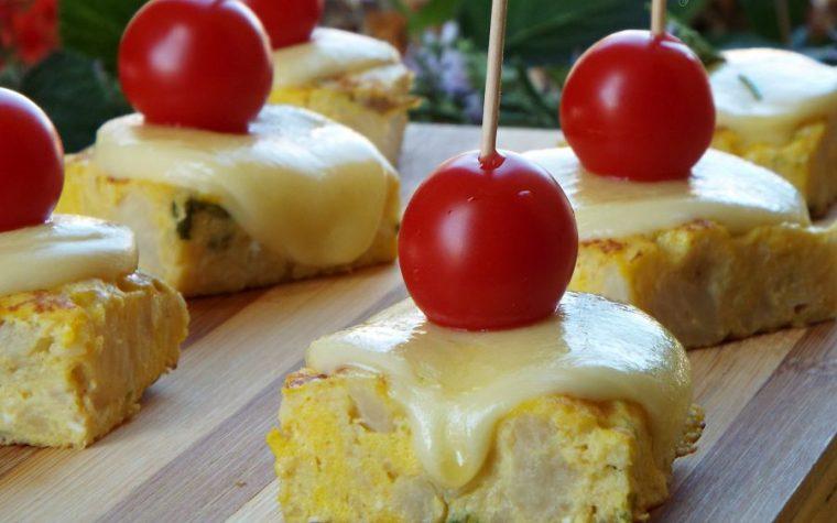 Cubotti di frittata al cavolfiore e formaggio filante