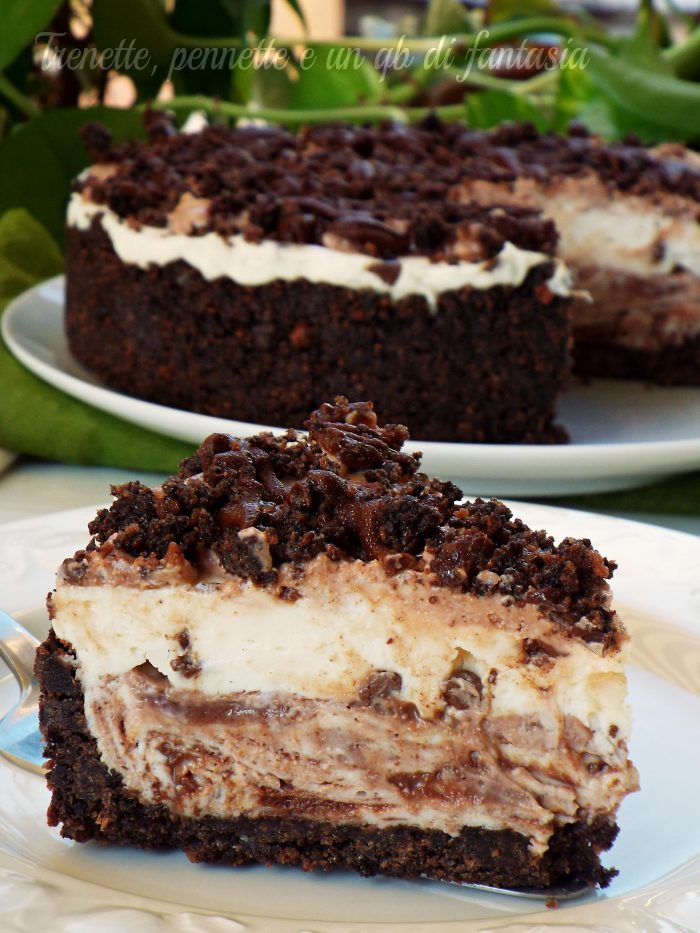 Cheesecake golosa cioccolato mascarpone e nutella