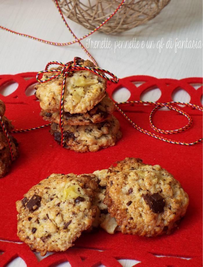 Cookies al muesli e cioccolato fondente