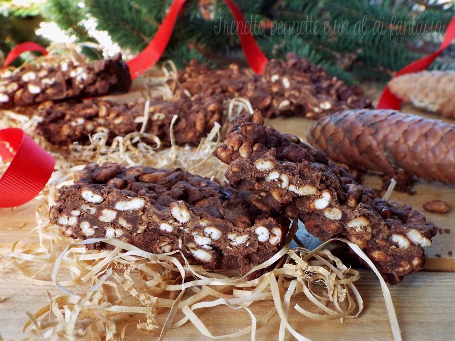 Barrette di orzo soffiato al doppio cioccolato