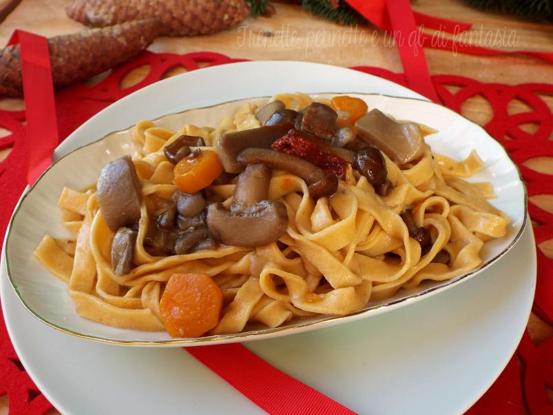 Fettuccine alla nduja con funghi misti pasta fatta in casa