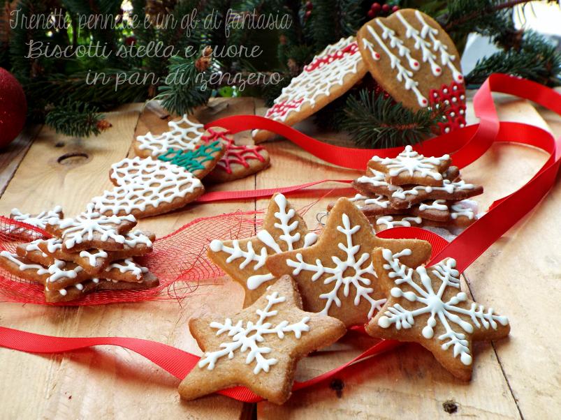 Biscotti stelle e cuori in pan di zenzero ricetta natalizia