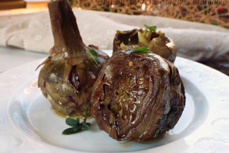 Carciofi aglio olio e peperoncino