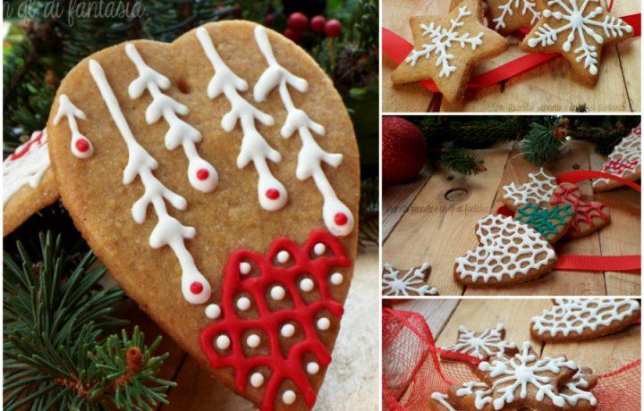 Biscotti stelle e cuori in pan di zenzero