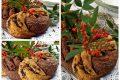 Centrotavola natalizio di pan brioche