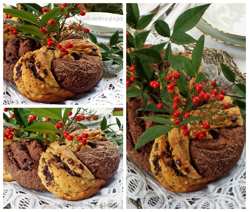 Centrotavola natalizo di pan brioche