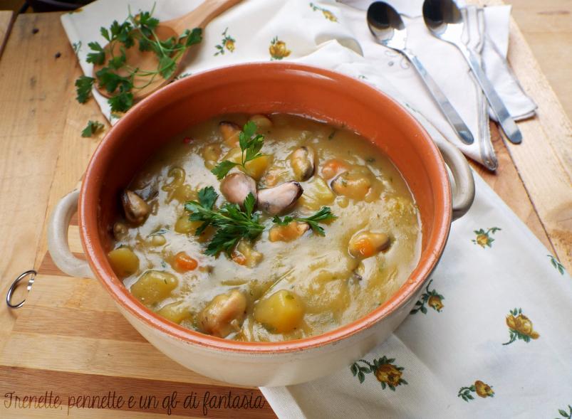 Zuppa di patate e cozze facile e veloce