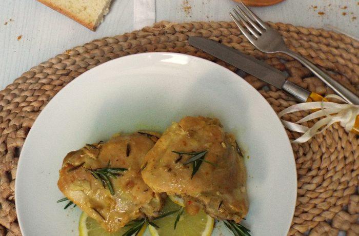 Sovracosce di pollo al limone e curry