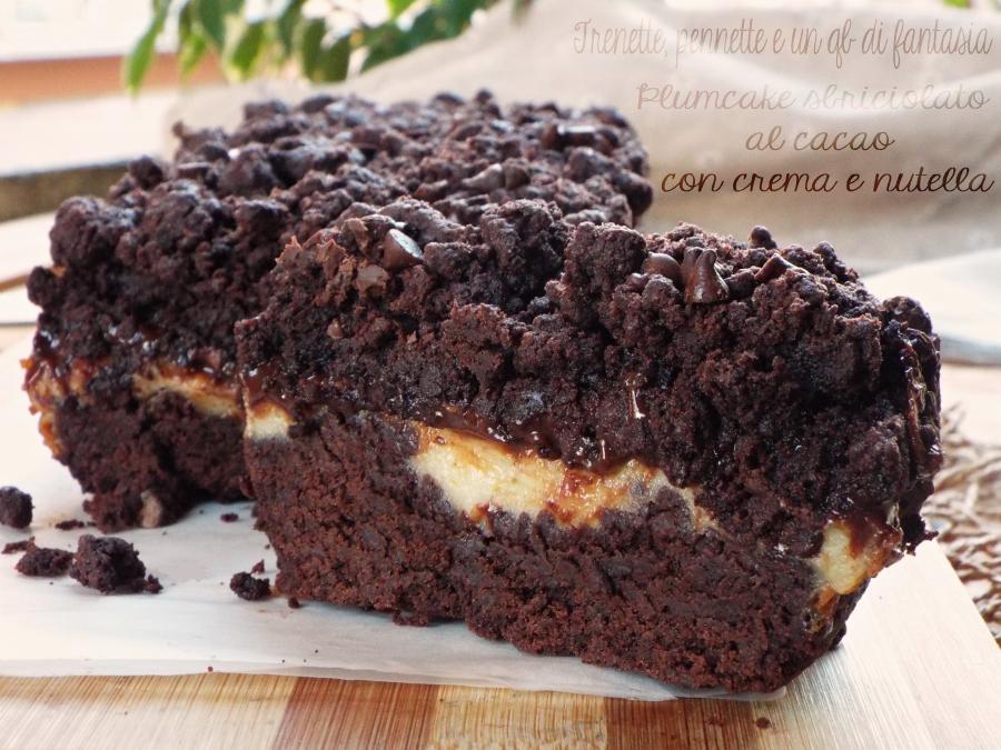Plumcake sbriciolato al cacao con crema