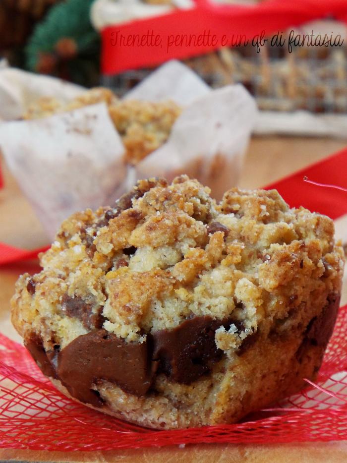 Muffin sbriciolati alla nutella