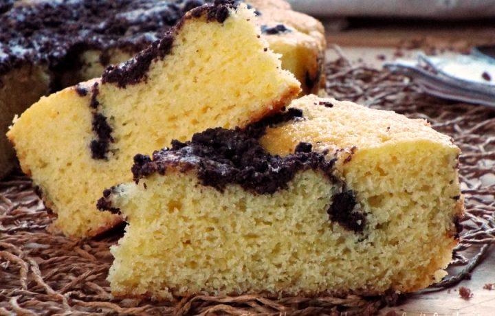 Torta super soffice con biscotti al cacao