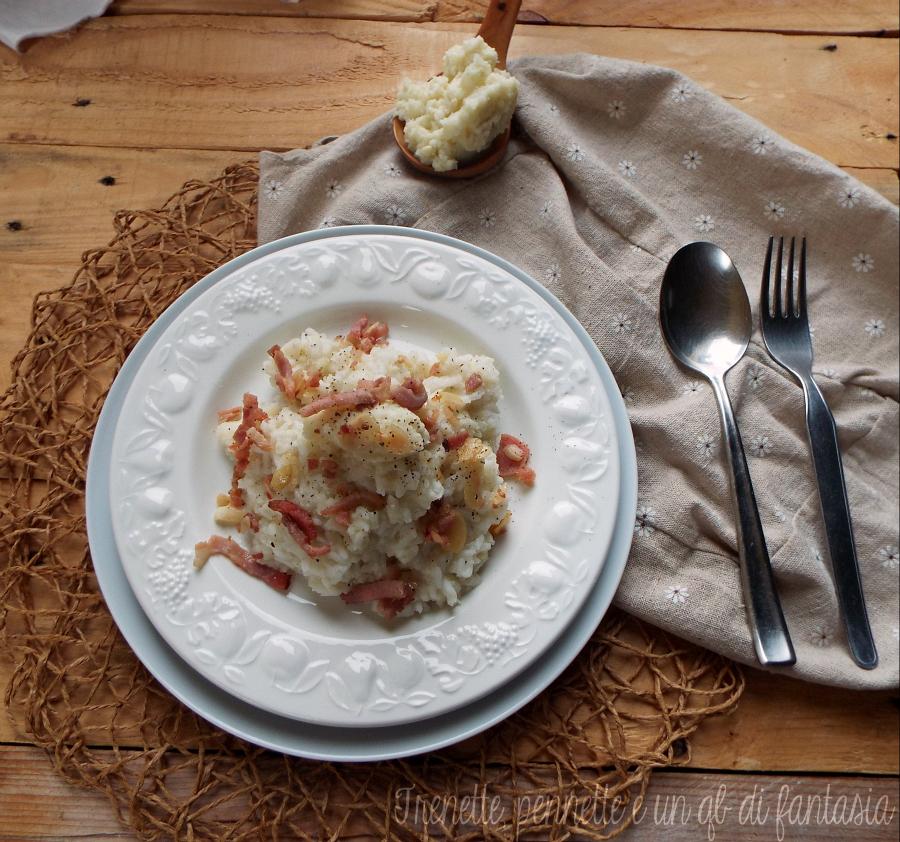 Risotto cremoso con cavolfiore pancetta