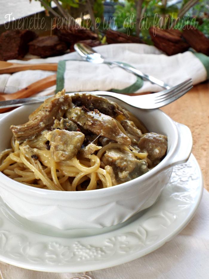 Spaghetti alla carbonara di carciofi ricetta rivisitata