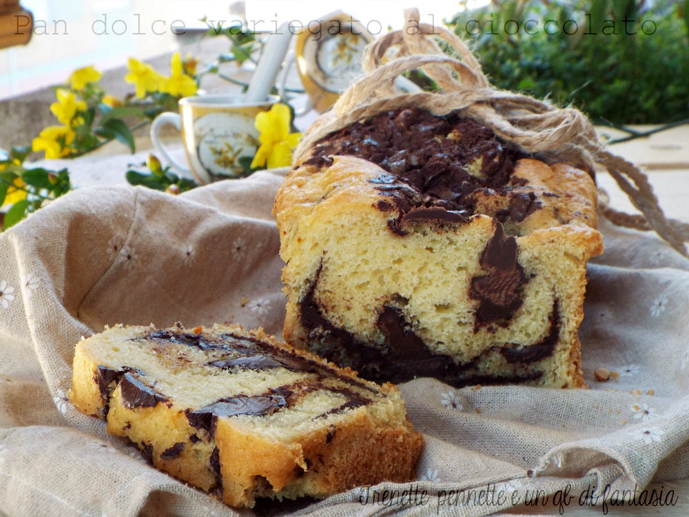 Pan dolce variegato al cioccolato