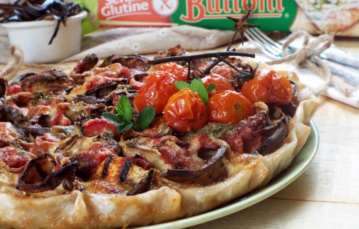 Torta rustica con melanzane alla parmigiana