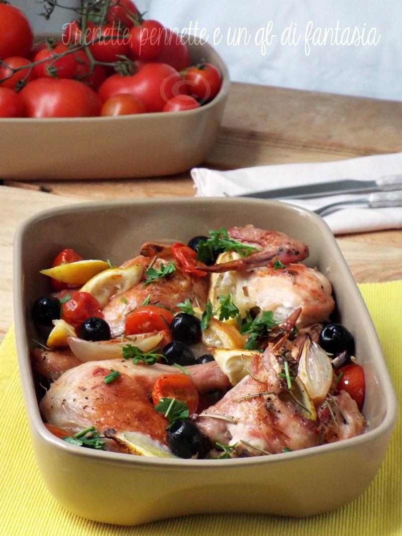 Pollo alle olive limone e ciliegino