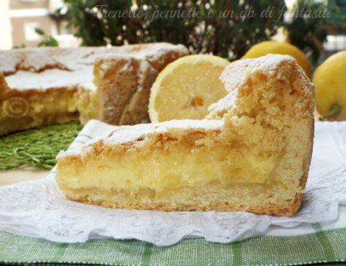 Torta al limone con doppio impasto