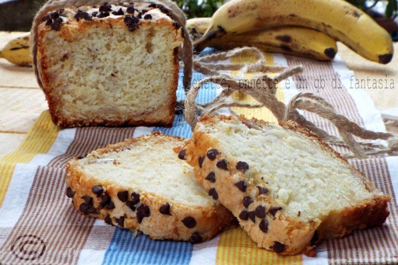 Plumcake banana ricotta e cioccolato..con albumi