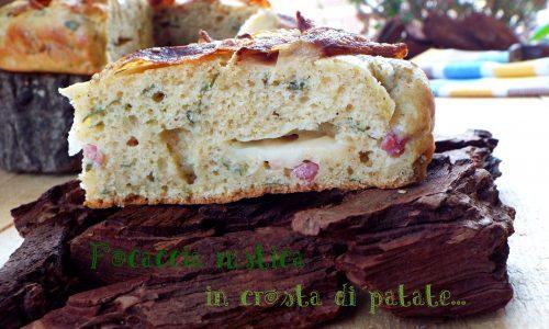 Focaccia rustica in crosta di patate...senza lievitazione