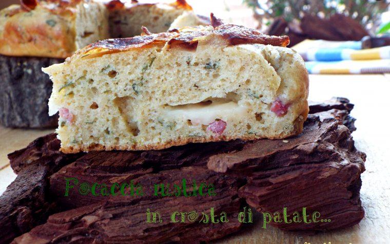 Focaccia rustica in crosta di patate…senza lievitazione